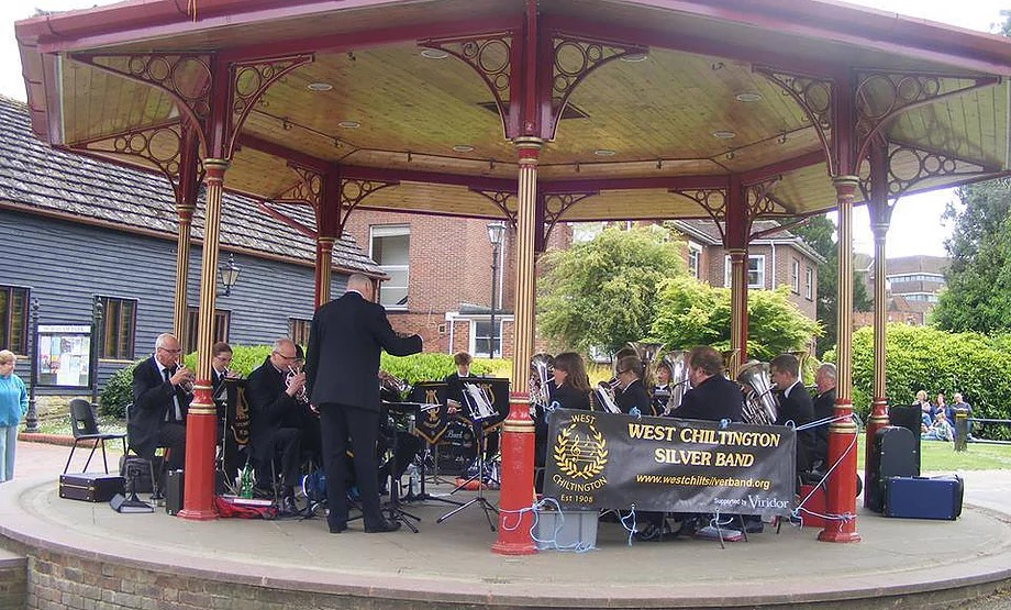 West Chiltington Silver Band Playing In Horsham
