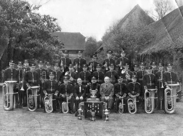 West Chiltington Silver Band Black and White Photo