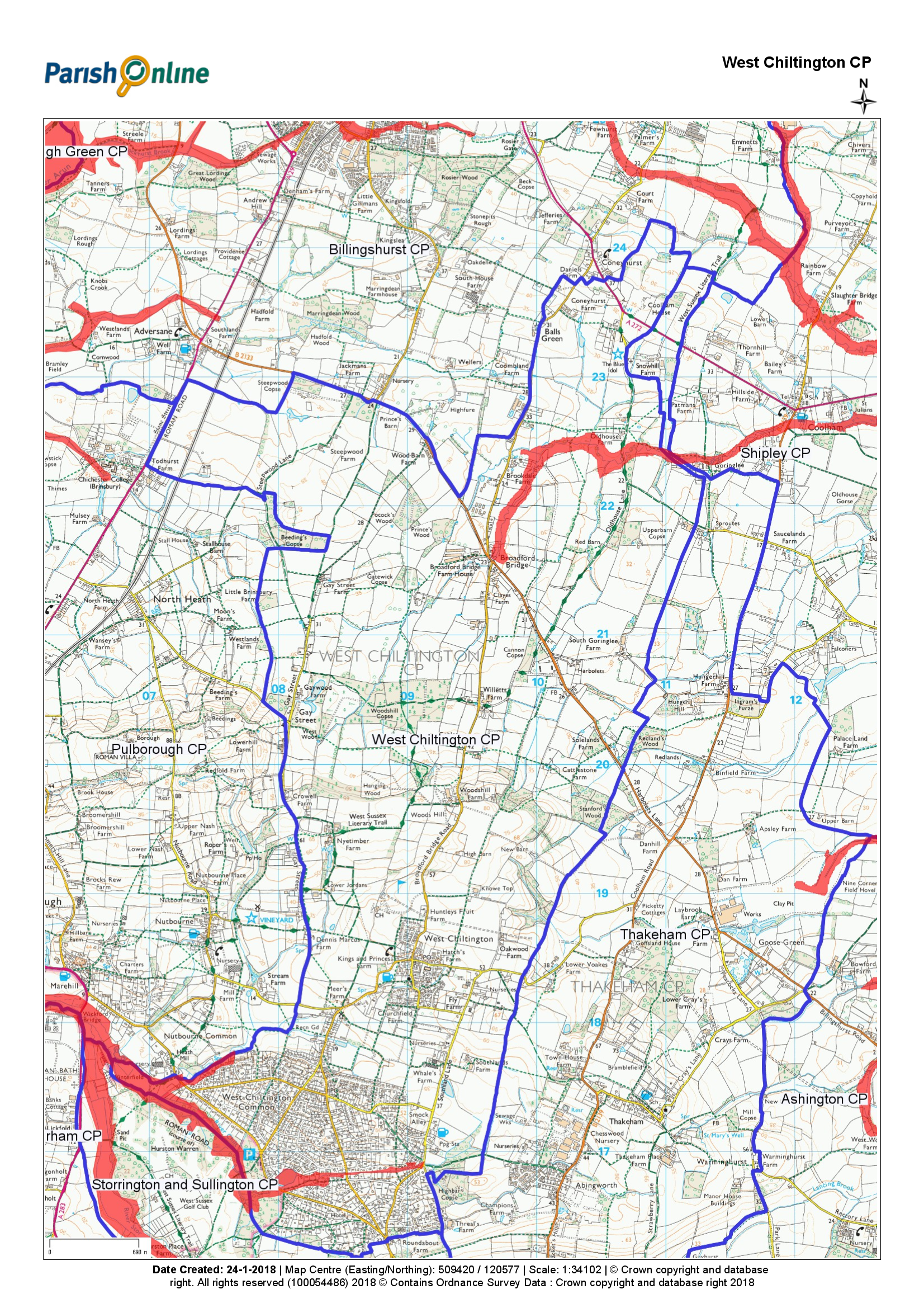 Map of Flood Alert Areas