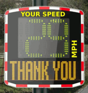 Photo of a Speed Indicator Device